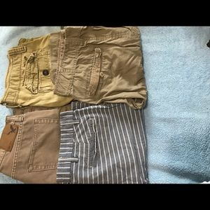 3 men's shorts 1 pants